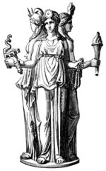 Hecate. Alexander S. Murray, Manual of Mythology (1898), found here