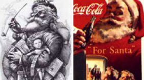 Santa Claus, Thomas Nast rendering and the Coca-Cola Ad.